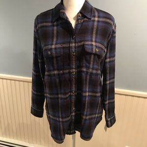 American Eagle Oversized Flannel Shirt - Size XS